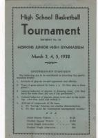 1932 Deephaven HS Basketball Tournament
