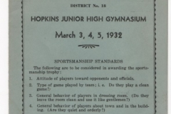 1932 Deephaven HS Basketball Tournament
