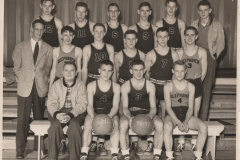 Coach Earl Crist & 1946-47 Deephaven Basketball Team