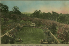 Sunken Garden at Heathcote main house 1920's