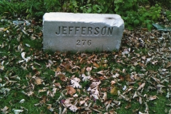 The address marker of the Jefferson House in St. Paul. (torn down)