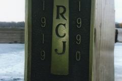 "Plaque on Carson's Bay Bridge in memory of Hank's uncle, Rufus ""Jim"" Jefferson"